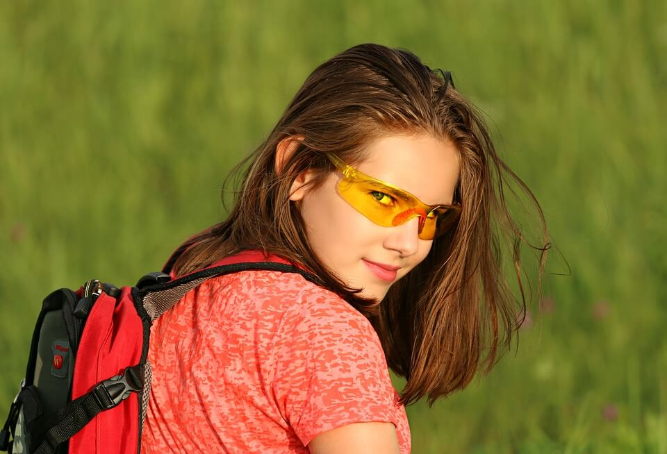 Orangea solglasögon